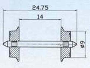 Roco DC NEM Spoked Wheelset 11mm HO Gauge RC40190 2