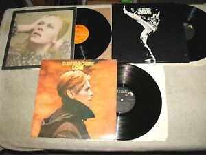 Lot of 3 David Bowie LPS - Man Who Sold the World - Honky Dory - Low
