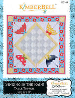 Table Topper Pattern Singing In The Rain By Kimberbell