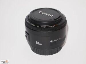 Canon-EF-50mm-1-1-8-II-AF-Standard-Objektiv-lens-fur-DSLR-Kamera-APS-C-80mm