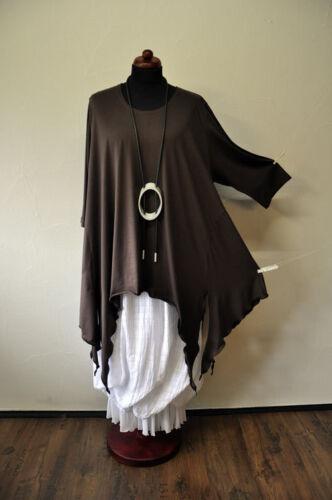 Zipfel braun°46 lagenlook°raffinierte tunika°schoko 52°one 48 Designer Size 50 q5zOBx