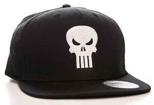san francisco ad2e2 d3407 Image is loading Hat-Marvel-The-Punisher-Embroided-Skull-logo-Snapback-