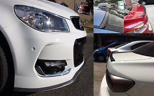 Carbon Fiber Look Front Bumper & Rear Spoiler  Lip for Toyota Corolla Camry