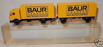 MICRO WIKING HO 1//87 CAMION MB MERCEDES 2235 REMORQUE GRAUTHOFF no BOX 1