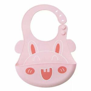 2 packs of Baby Bib Adjustable Fit Silicone Waterproof Bibs BPA Free easy clean