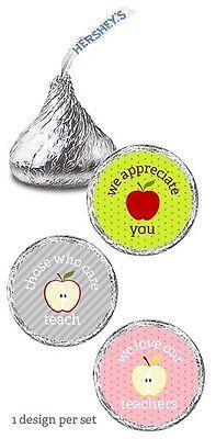 108 Teacher Appreciation Day Kisses Labels