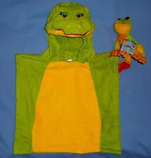 Frog costume kid-2-4-6;Poncho;bath towel-hooded;swim-beach cover up;beanie frog
