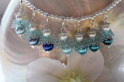 5 Engel Anhänger Perlen  Gastgeschenk  Hochzeit Taufe Kommunion
