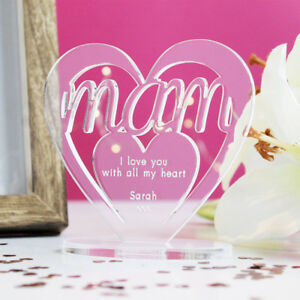922421989 Image is loading Personalised-Heart -with-Message-Ornament-Keepsake-Birthday-Mam-