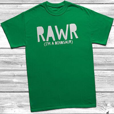 Rawr I/'m A Dinosaur T-Shirt Gift Present Jurassic T-Rex World Park