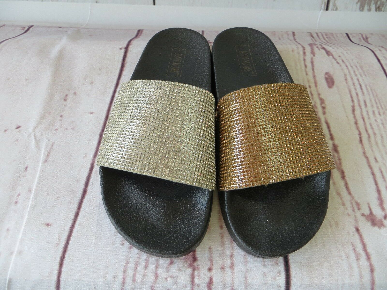 CARACAS JELLY SANDAL WOMEN SHOES SLIP ON ANN SLIDES SLIPPERS DIAMOND BY ANN ON MORE 361683