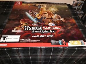 Hyrule Warriors Age Of Calamity Gamestop Exclusive Promo Poster Ebay