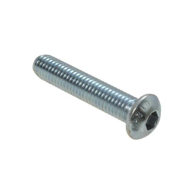 Qty 5 Button Head Socket M8 (8mm) x 35mm Zinc Plated Screw Bolt ZP 12.9 Grade