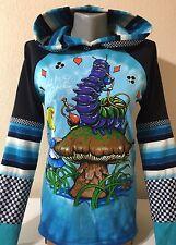 DiY Alice In Wonderland Hoodie Cheshire Cat Goth Unique Regular or 1X Plus Size