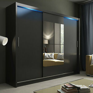 Image Is Loading Modern Bedroom Wardrobe With Sliding Doorirror
