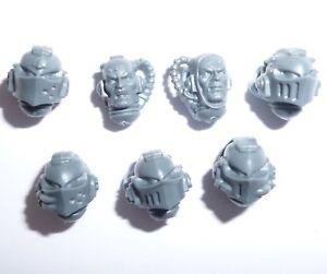 AgréAble Grey Knights Strike Squad Têtes X 7 – G1218-afficher Le Titre D'origine Laissons Nos Produits Aller Au Monde