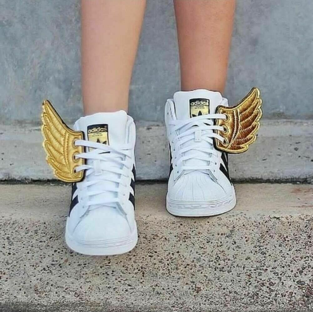 1 Pair Angel Wings Shoe Accessories Gothic DIY Party Boots Sneakers Ornament