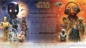 HonnêTeté Royal Mail Star Wars First Day Cover + Insert Card 2017 Uk Seller