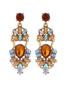 1 Pair Women Fashion Jewelry Lady Elegant Crystal Rhinestone Ear Stud EarrinYRDE