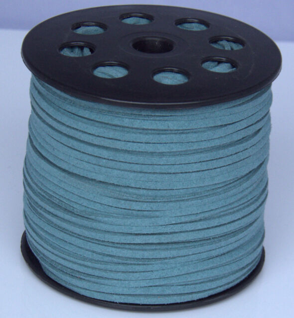 10yds 3mm Suede Leather String Jewelry Making Thread Cords hot