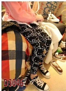 788da7605 Image is loading Girls-Kids-child-Sweet-Hello-Kitty-Print-Leggings-