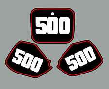 Honda CR500 Number Plate Graphics 91-02 Cr 500 Cr500R 500R sticker decal Black