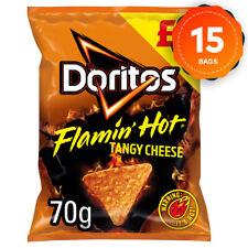 15 x Doritos Tortilla Chips Flamin Hot Tangy Cheese 70g