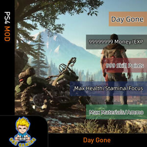 Days-Gone-PS4-Mod-Max-Money-Skill-Points-EXp-Health-Stamina-Focus-Materials