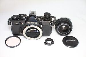 AS IS Olympus OM-2 Film Camera Silver &  G.Zuiko Auto-W 35mm F/2.8 Lens