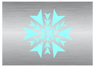 Gematigd Christmas Snow Flake Stencil 5 A5 To A0 14cm To 1.2 Meters Or Bigger Cmas039 Grote Rassen