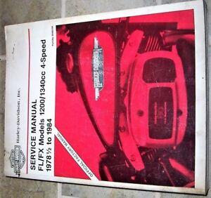 harley davidson fl 1340cc 1980 factory service repair manual