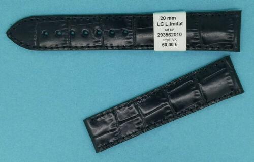 Maurice Lacroix Louisiana Kroko Prägung schwarz Uhrenband für Faltschliesse 20mm