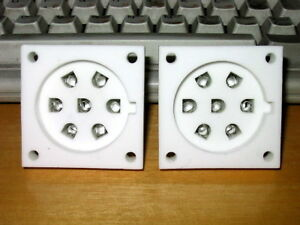 2-X-Brand-New-TUS-P7-7-Pins-Silver-Plated-Contacts-Ceramic-Tube-Socket