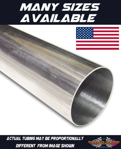 """304 Stainless Exhaust Header Tubing 3 Feet of 3/""""  American Made"""