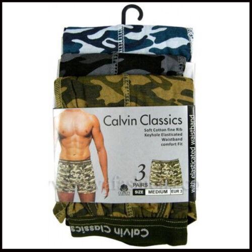 Pack Of 3 Men Army Print Underwear Camouflage Boxer Short Multi S-M-L-XL-XXL