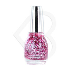 Laval Crystal Finish Glitter Top Coat Nail Polish - Pink Glitter Silver Large