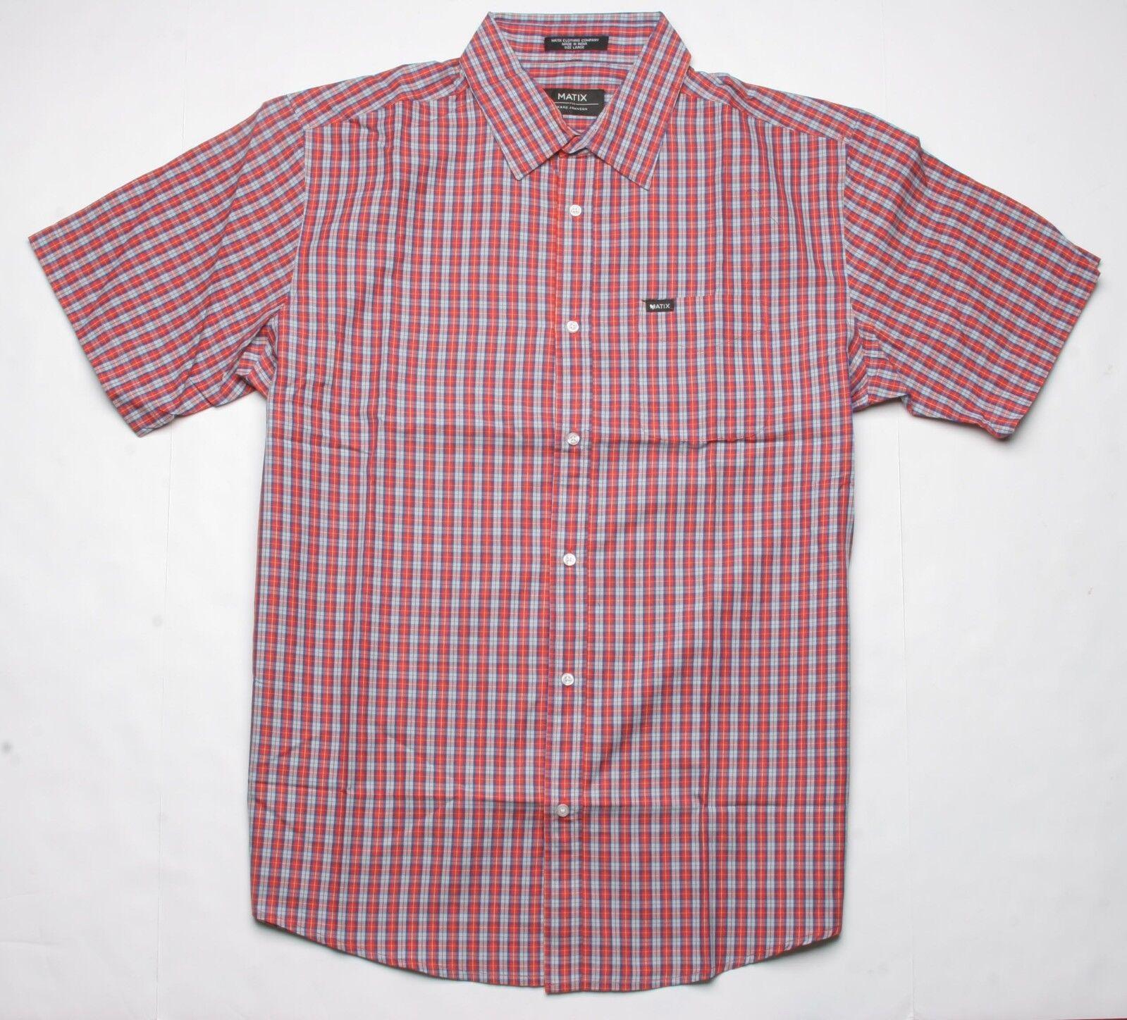 MATIX Strata SS Woven Shirt (L) Red