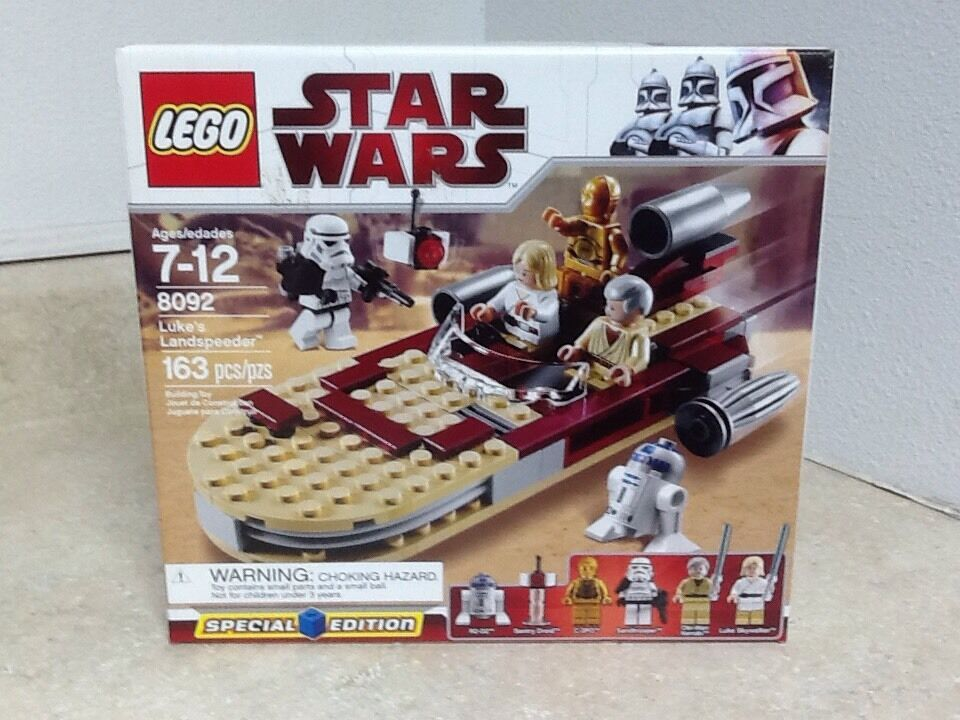 Lego Star Wars Wars Wars Luke's Landspeeder 8092 Retired f70ab0