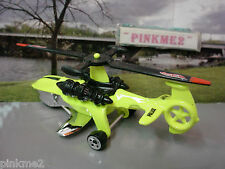 2010 POLICE PURSUIT Design Ex SKY KNIFE∞Yellow copter~New LOOSE Hot Wheels