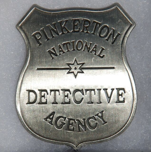 Pinkerton Detective Agency Replica Sheriff Western Badge Police Marshal PH027