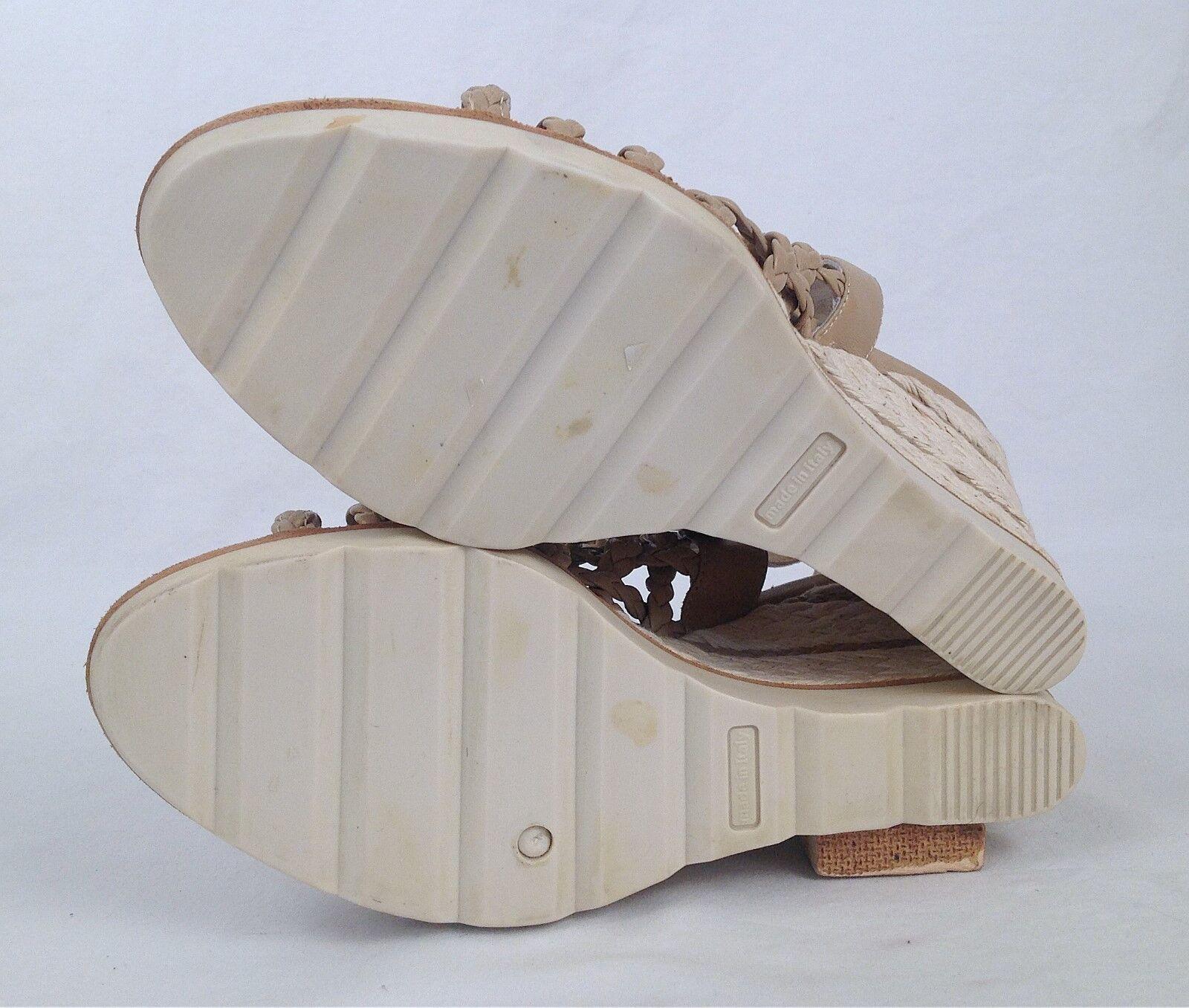 NEW     Aquatalia By Marvin K-'Queen' Woven Leather Espadrille-Dimensione 9.5- 470-(P2) da5576