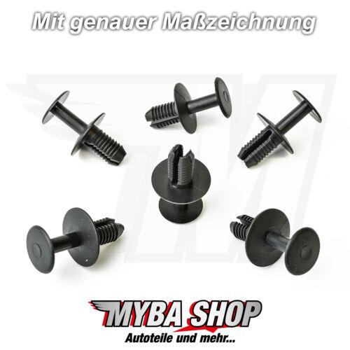 15x paso de rueda clips soporte de fijación mercedes BMW.. volvo KLIPS negro nuevo