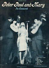 Sheet Music Peter Paul and Mary IN CONCERT 1963-64 8 Songs Chord Symbols Guitar