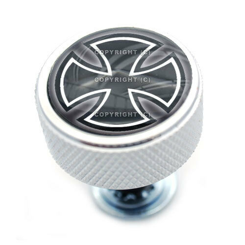 """Chrome Billet /""""Iron Cross/"""" Knurled Bolt for Harley Mounting Seat to Fender"""
