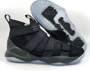 more photos fa463 ed5ee Details about Nike Lebron Soldier XI 11 SFG Finals Black Gold White  897646-002 Men's 14