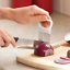 Vegetable-Cutter-Kitchen-Gadget-Stainless-Steel-Easy-Onion-Holder-Slicer-Tools thumbnail 2
