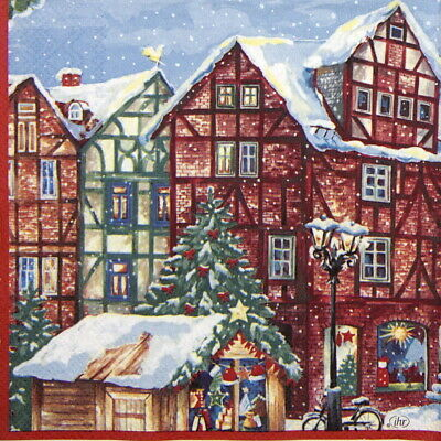 Winter Garden 4x Paper Napkins for Decoupage Craft and Party