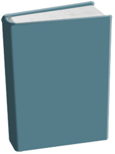 Steel Blue Stretch Fabric Book Sox Cover Standard Solid Gray Metal Up to 8x10