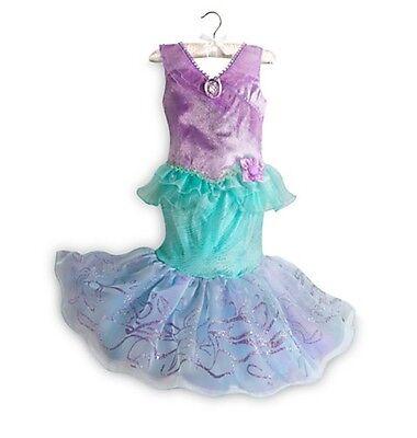 Disney Store Deluxe Princess Ariel Little Mermaid Costume Dress 3 4 5/6 7/8 9/10