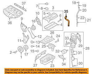 vw volkswagen oem 07 08 eos engine parts breather tube 06f103235a ebay rh ebay com 2003 Volkswagen Passat Engine Diagram VW 2.0 Turbo Engine Diagram